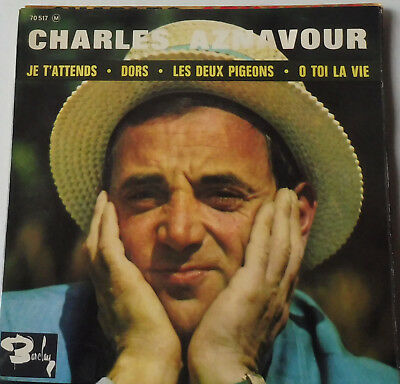 EP  Charles Aznavour je t'attends + 3  Barclay 70517