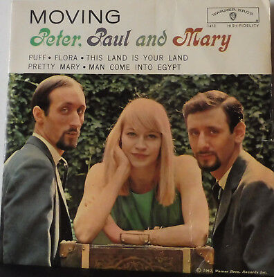 EP Peter, Paul And Mary- Moving-  Puff / Flora + 3  MONO WEP 601