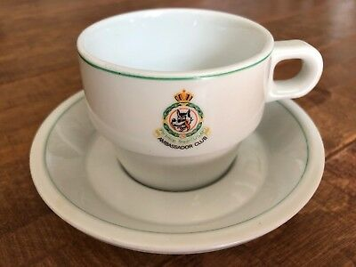 Old 32nd Fighter Interceptor Squadron USAF Wolfhounds Cup & Saucer RARE!!!!