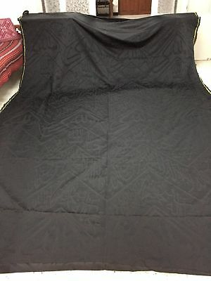real kaaba textile black hand silk weaving with gad  name and prophet muhammad