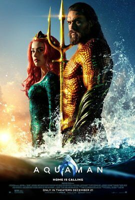 AQUAMAN (2018) D/S Orig Movie Poster 2-Sided 27x40 Momoa DC Ver 11 Marvel NEW