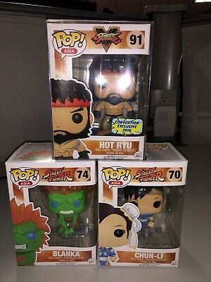 Funko Pop Asia / Street Fighter - Selling Lot - Set Of 3 Pieces - Exclusives