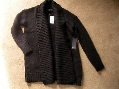 NWT New Forever 21 black thick warm heavy open cardigan sweater,  size Small S
