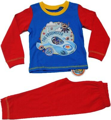 Boys Official Go Jetters Pyjamas Pjs Pajamas Toddlers Kids Children's 2 3 4 5