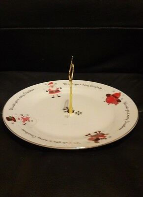 Christmas Cup Cake Stand Serving Platter Cake Stand tea party 1 tier stand