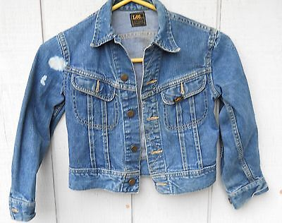 Vintage 60's Lee Union Made Denim Button Kids Button Jacket Size Kids 6-7 (As Is