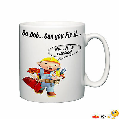 bob the builder can you fix it funny novelty mug tea coffee home ideal gift