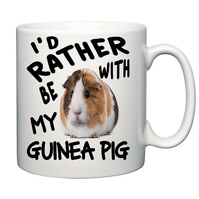 I,d rather be with my Guinea Pig novelty mug tea coffee home office funny gift