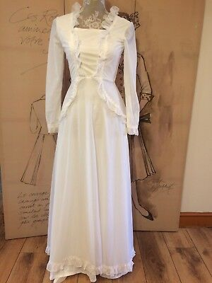 Stunning Vintage 70's Dotty Wedding Dress, Size 6-8, Beautiful