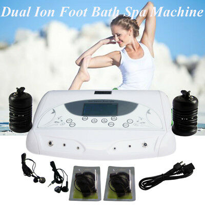 Pro Ion Foot Bath Detox Spa Machine LCD Screen Cell Cleanse MP3 Physiotherapy