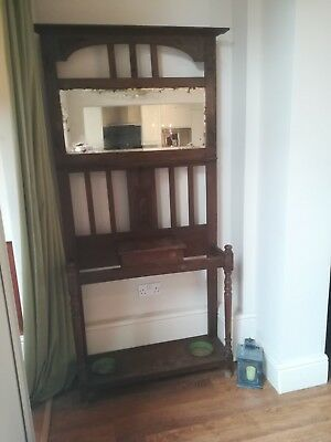 Antique/Vintage Hall Stand With Glove Box And Coat/Hat Hooks. Collection Only.