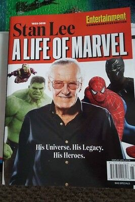 Entertainment Weekly Stan Lee A Life Of Marvel Collector's Edition Magazine