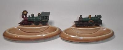 Vintage Wade Pin Dish x 2 with YesterYear Lesney Train Connaught & American Loco