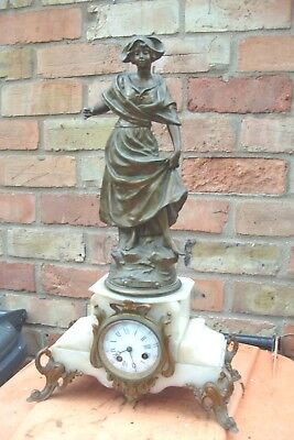 Mantel Clock For Restoration Jappy Freres Striking On A Bell French Signed