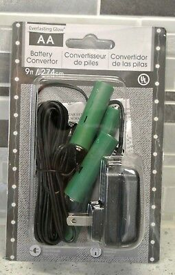 AA Battery Converter to Electric, by Everlasting Glow, 9 ft, NIP