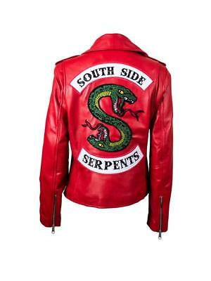 UK Riverdale Southside Snake Serpent Fingerless Casual Biker Jacket Shirt Gloves