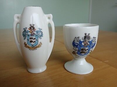 Gemma Crested China Brighton Vase and Egg Cup
