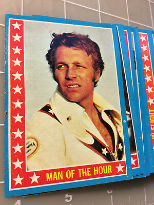 1974 Topps EVEL KNIEVEL ~ 53 Card lot ~ most cards are in EXC condition