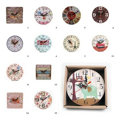 Vintage Wall Clock Home Antique Clock Chic Retro Room Kitchen Wall Clock Decor