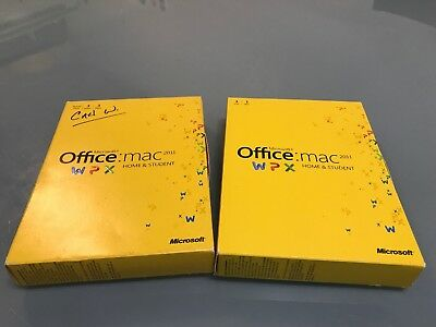Lot Of 2 Microsoft Office for Mac Home and Student 2011 No Returns