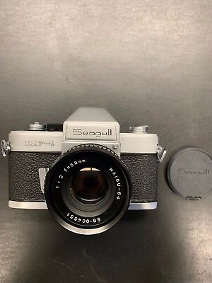 seagull df-1 camera new, 35mm manual focus film SLR camera with lens and case