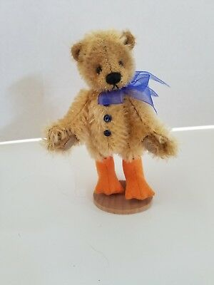 Deb Canham jointed teddy bear duck artist mohair miniature dicky duck ed of 200