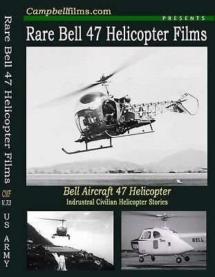 Rare Bell 47 Helicopter Film 1950 Civilian Aviation DVD