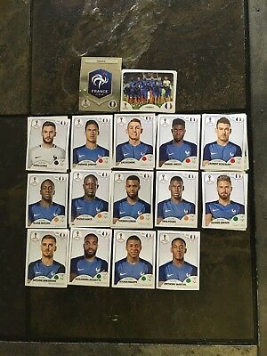 Panini FIFA World Cup Soccer Russia 2018 stickers - Select France Team Members