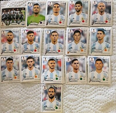 Panini FIFA World Cup Soccer Russia 2018 stickers - Select Argentina Team