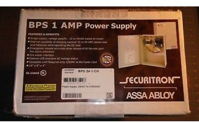 Securitron Assa AbloyBPS-24-1 24VDC-1A Power Supply (New in Box)