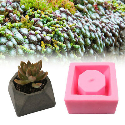 Handmade Geometric Silicone Flower Pot Mold Concret Succulent Planter Vase Mould
