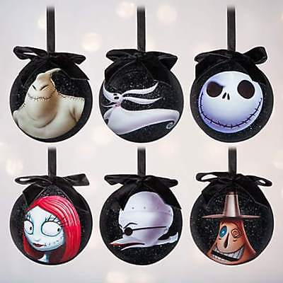 Disney Store The Nightmare Before Christmas Sketchbook 6 Ball Ornament Set 2016