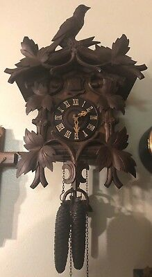 Large ANTIQUE BERGER 1927 CUCKOO CLOCK GERMANY RARE TOP