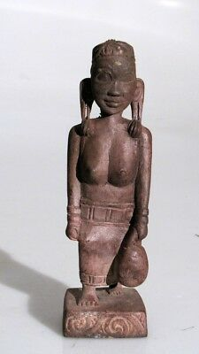 Old Carved Wood Female Figure Dayak Borneo