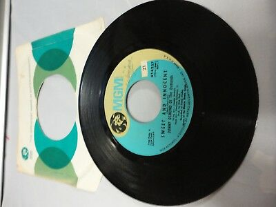 "Donny Osmond Of The Osmonds - Sweet And Innocent / Flirtin' 7"" Mint- K14227"