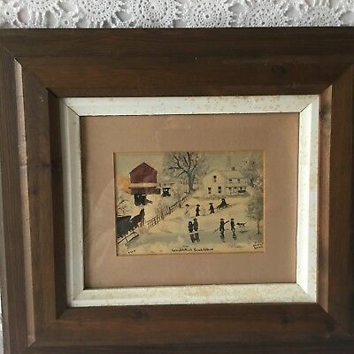 Emma Schrock Grandmothers Children Framed Signed Art Oil Painting?