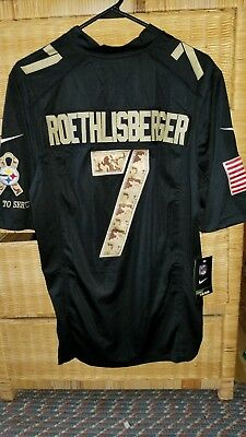 065a4f53697 Pittsburgh Steelers Stitched Salute to Service Ben Roethlisberger Size 40 M