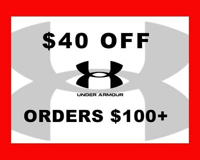 UNDER ARMOUR $40 off $100 Code UA Expires 12/14/2018 * LOOK HERE*