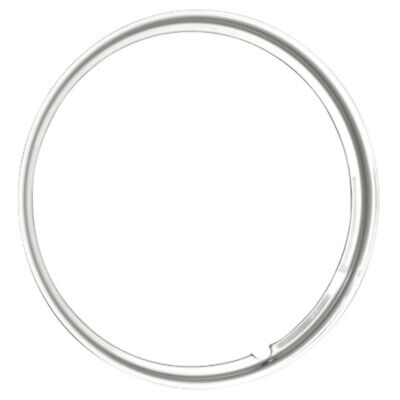 "Coker 17"" Trim Ring 1.5"" Hot ROD Smooth Stainless Steel"