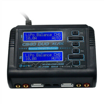 HTRC C240 DUO AC 150W DC 240W 10Ax2 Dual Channel RC Battery Balance Charger