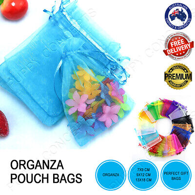 Pure Colour Organza Bag Pouch Sheer Wedding Gift Party Candy Jewellery Packaging