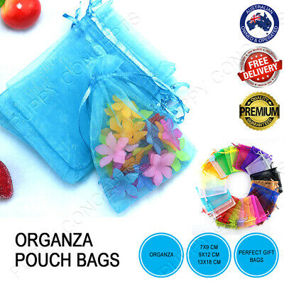 Pure Colour Organza Pouch Sheer Bags Wedding Gift Party Candy Jewellery Packing