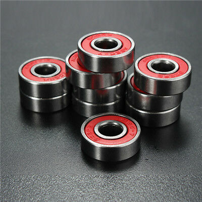 10pcs ABEC-7 Red Sealed Deep Groove Skateboard Ball Bearing 608RS 9x22x6mm