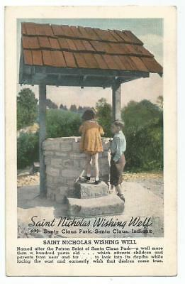 Santa Claus, IN Indiana 1938 Postcard, Wishing Well