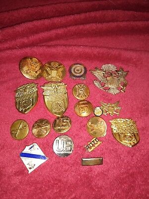 Vintage Valley Forge Academy Pins Badges Medals Good Lot Military