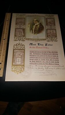 VINTAGE 1950 DOCUMENT Vatican Papal Blessing POPE PIUS XII w VATICAN SEAL LOOK!