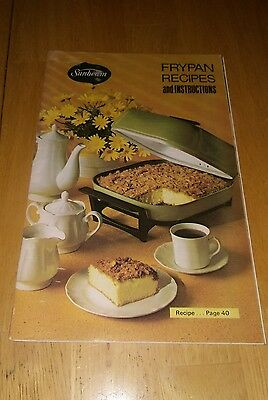 Preowned Sunbeam Frypan Recipes and Instructions 1972 Vintage retro Cook book