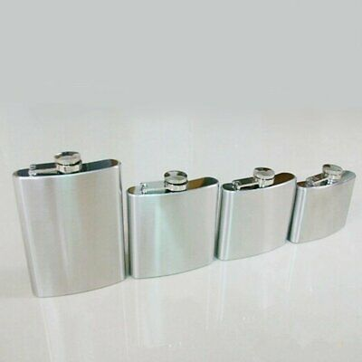 Whiskey Pocket Hip Flask Wine Liquor Alcohol Wedding Drink Bottle Silver EA