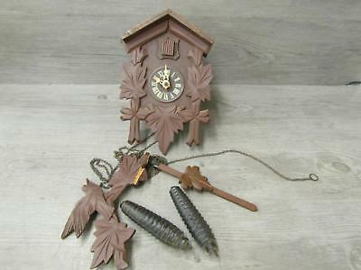 Vintage German Cuckoo Clock Regula Movement For Parts or Repair Only