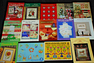 HUGE Lot of 140 Counted Cross Stitch Books, Booklets & Patterns - 1980's 1990's